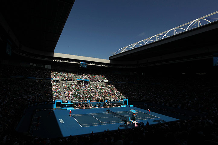 Australian Open day 10: Rod Laver arena in shadow