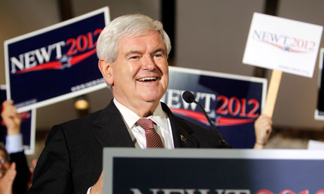 Newt Gingrich makes a campaign stop in Naples, Florida