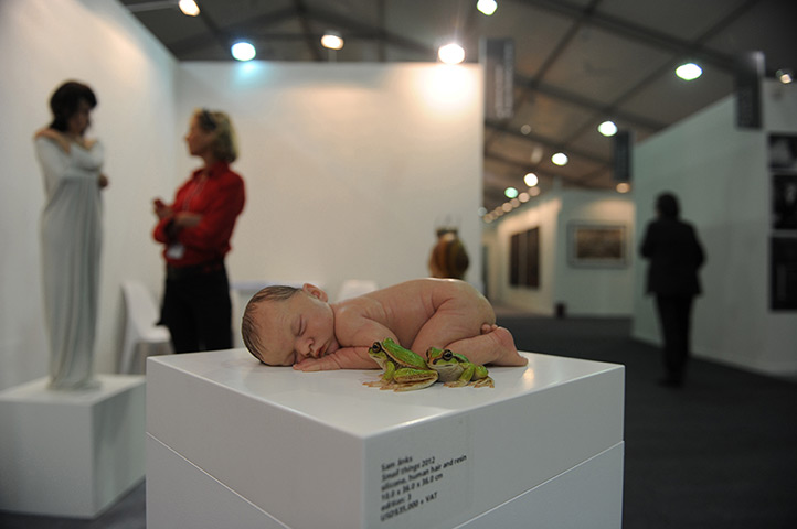 India art fair: A sculpture by Australian artist Sam Jinks titled Small Things, 2012