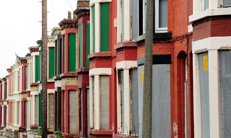Boarded-up houses in Wavertree, Liverpool