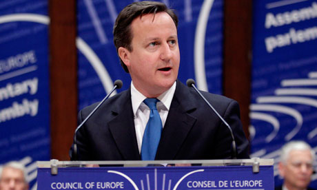 David Cameron Council of Europe