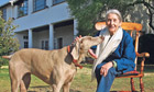 Nadine Gordimer and her dog
