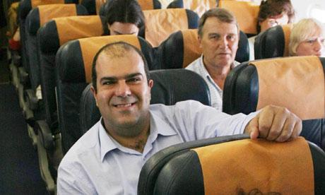 Easyjet founder Stelios Haji-Ioannou en-route to London Gatwick from Athens, Greece - 16 Jun 2008