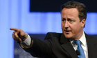 David Cameron told the World Economic Forum in Davos Germany had to be bold over the eurozone crisis