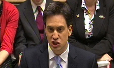 Labour leader, Ed Miliband, says the public sector pay freeze is necessary to tackle the deficit