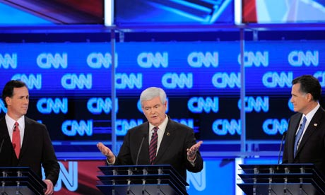 Florida debate Santorum Gingrich Romney