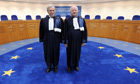 The ECHR president, Nicolas Bratza (left) and his predecessor, Jean-Paul Costa