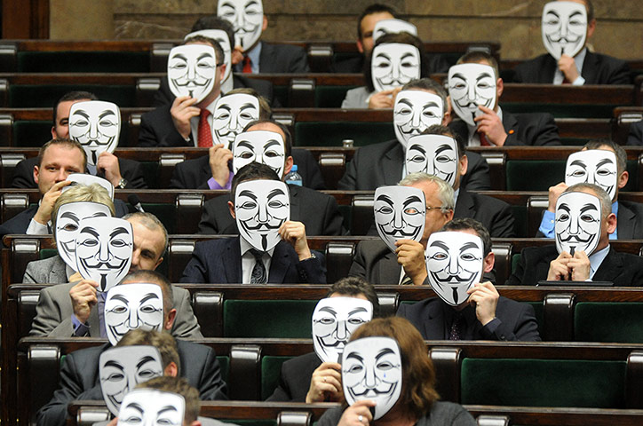 Варшава, Польша: депутаты левой партии