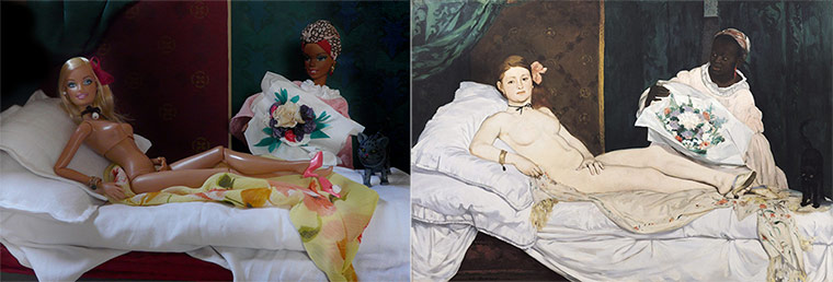 Jocelyne Grivaud Barbies: Manet
