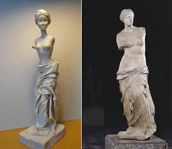Jocelyne Grivaud Barbies: The Venus de Milo