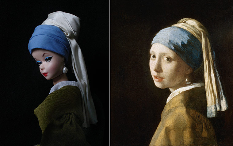Jocelyne Grivaud Barbies: Girl with a Pearl Earring