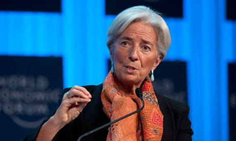 Christine Lagarde at the World Economic Forum in Davos