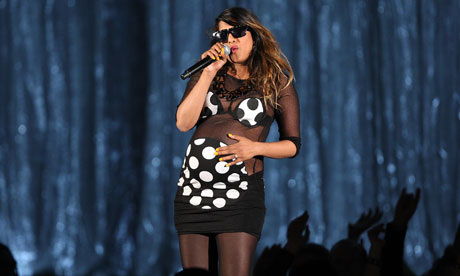 M.I.A. preganant onstage at the 51st Annual GRAMMY Awards