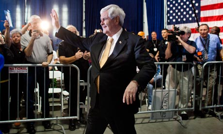 Newt Gingrich being sued for using Eye of the Tiger to enter Republican presidential campaign meets
