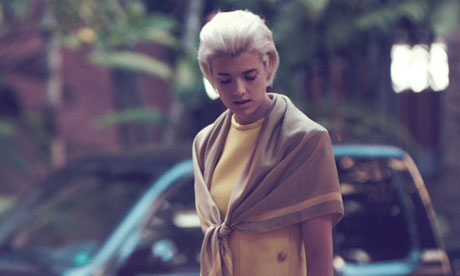 Agyness Deyn on set of the silent short film 'Here' in Hawaii