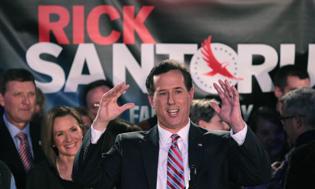 Rick Santorum at the Iowa caucus
