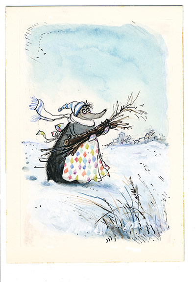 Mrs Mole by Ronald Searle: Mrs Mole by Ronald Searle