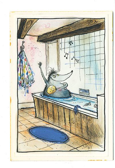 Mrs Mole by Ronald Searle: Mrs Mole by Ronald Searle
