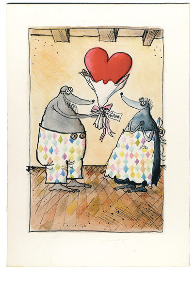 Mrs Mole Ronald Searle 2: Mrs Mole by Ronald Searle 2