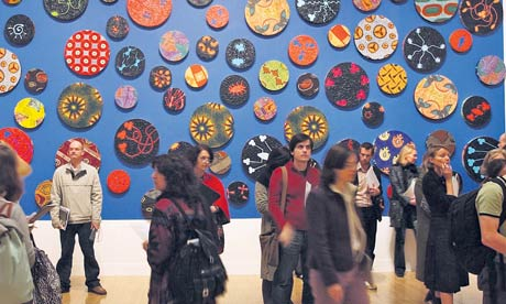 People in front of a piece by Yinka Shonibare at Tate Britain