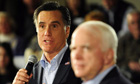 Mitt Romney basks in the endorsement of former rival John McCain