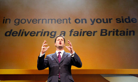 Nick Clegg speaks at Liberal Democrats autumn conference Birmingham