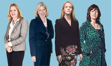 Amber Rudd MP, Theresa May MP, Louise Mensch MP and Claire Perry MP