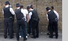 Police stop and search black teenagers