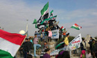 A protest against Syria's President Bashar al-Assad
