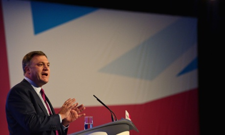 Ed Balls at the Labour conference in Manchester
