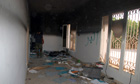 A room in the gutted US consulate in Benghazi
