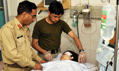 Army doctors treating Malala Yousafzai in Peshawar