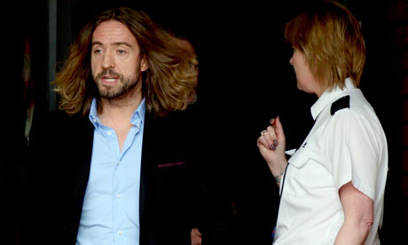Justin Lee Collins after being found guilty