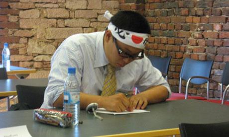 Naofumi Ogasawara, winner of the 2012 Mental Calculation World Cup