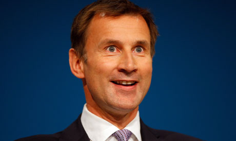 Jeremy Hunt at the Conservative party conference in Birmingham