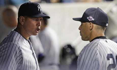 New York Yankees' Alex Rodriguez and Joe Girardi