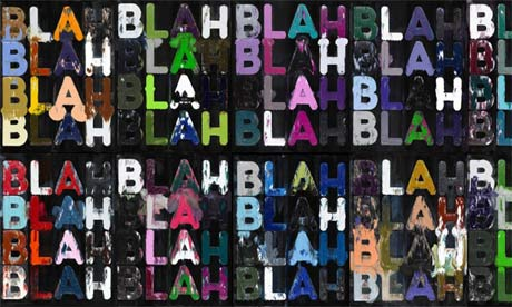 Blah, Blah, Blah, painting by Mel Bochner