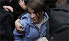 Pussy Riot's Yekaterina Samutsevich, freed from prison in Moscow