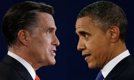 Mitt Romney faces off with Barack Obama