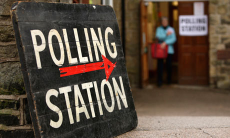 A polling station in the 2010 general election