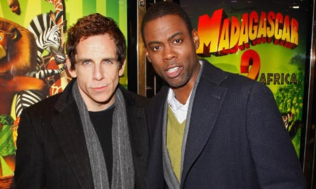 "Photo of Chris Rock & his friend actor  Ben Stiller - Movie ""Madagascar 3"""