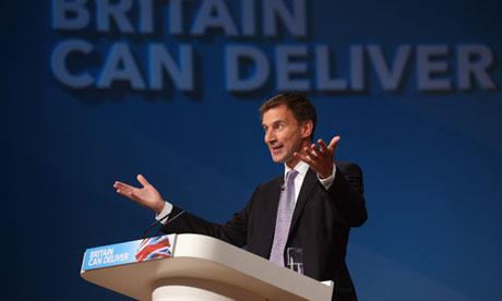 Jeremy Hunt at Conservative Party Conference