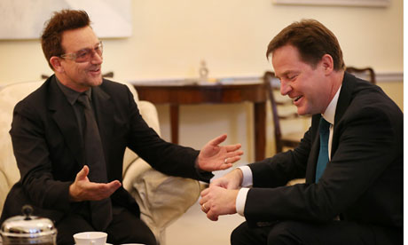 Clegg meets Bono