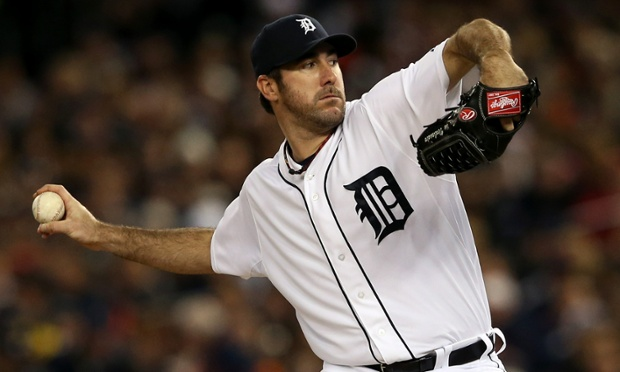 DETROIT, MI - OCTOBER 06:  Justin Verlander #35 of the