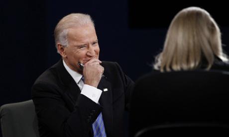 Vice President Joe Biden at the Vice Presidential Debate at Centre College, Danville, Kentucky, America.