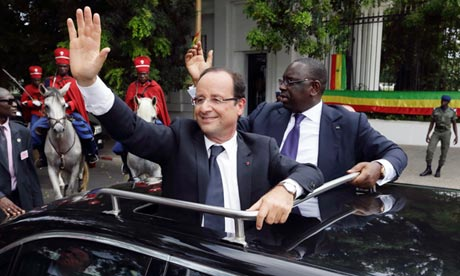 Senegalese president, Macky Sall, and his French counterpart, Francois Hollande