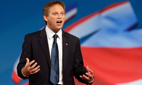 Tory chairman, Grant Shapps, addresses the recent party conference