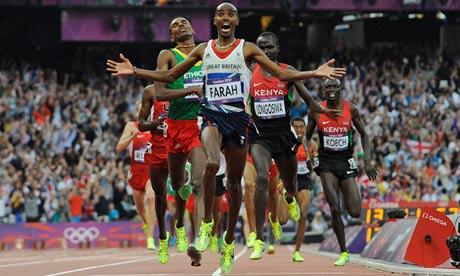 Mo Farah 5000 metres victory