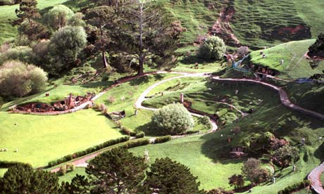 Lord of the Rings Hobbiton set