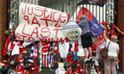 Hillsborough tributes outside the stadium